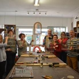 groepsworkshop glas in lood